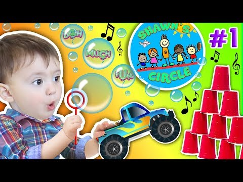 Shawn's Circle: POPPING BUBBLES Family Fun Games (#1) | DOH MUCH FUN