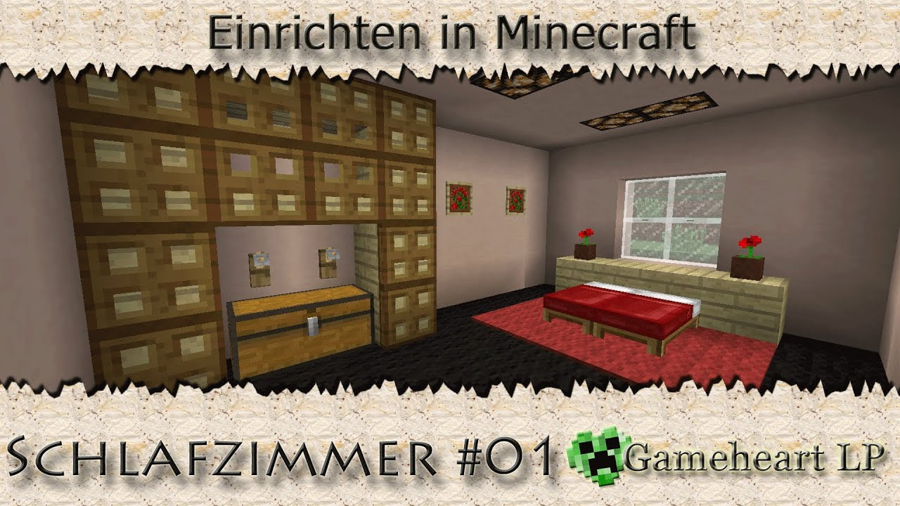 minecraft schlafzimmer 01 einrichten in minecraft. Black Bedroom Furniture Sets. Home Design Ideas