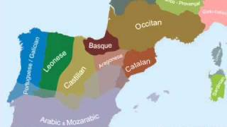 Ethnic Linguistic Map Southwestern Europe Complete