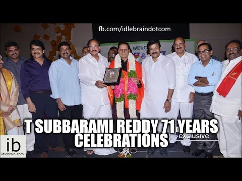T Subbarami Reddy 71 years celebrations