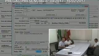 Licitação nº04 2017 - Ref: Contratação de serviço asfáltico - tapa buraco (16/02/2017)