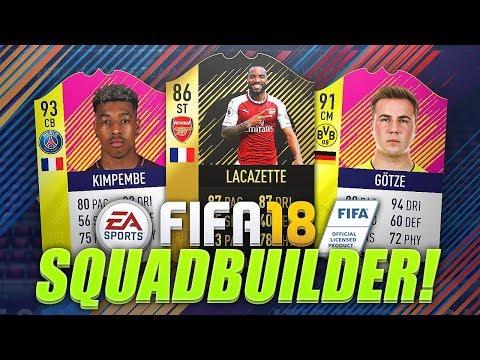 BEST 100K TEAM ON FIFA 18? w/ 93 KIMPEMBE, 91 GOTZE & IF LACAZETTE! FIFA 18 Ultimate Team