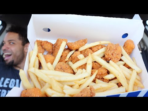 Eating Jack In The Box Spicy Popcorn Chicken