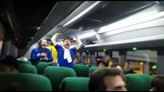Torcedores do Cruzeiro fazem festa antes de River x Cruzeiro