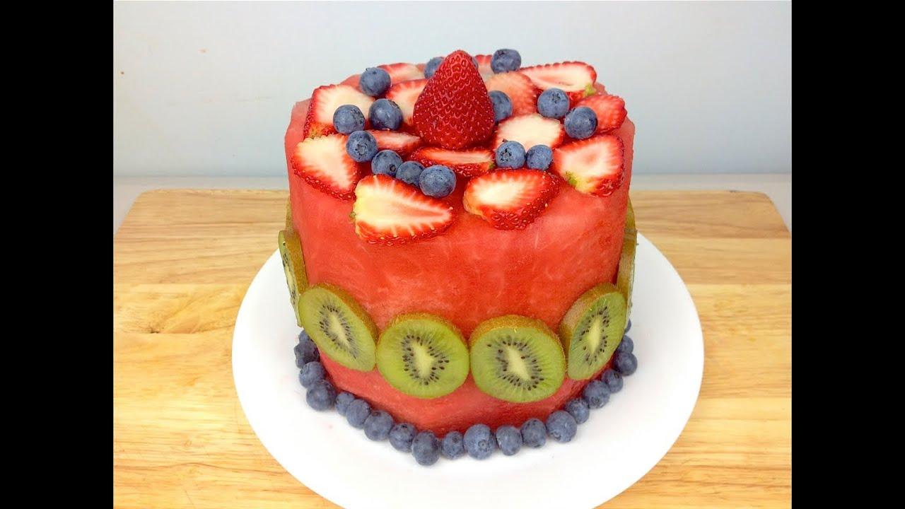 WATERMELON CAKE - YouTube
