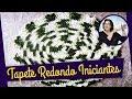 CROCHÊ TAPETE REDONDO BARROCO MULTICOLOR PARTE 1