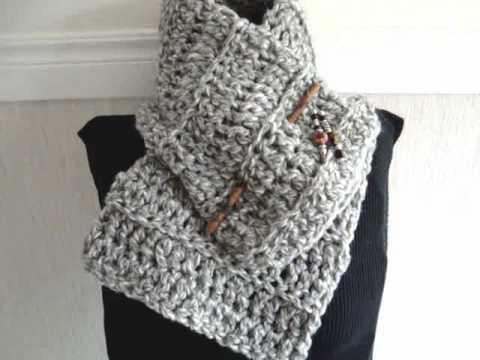 Free Crochet Pattern: Lacy Crimson Cowl, Stella Cowl Scarf