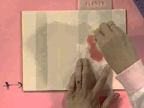 Como hacer una caja para zapatillas de baile - Pintura decorativa - Stencil