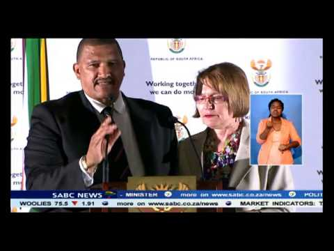 The Western Cape Premier Helen Zille booed.