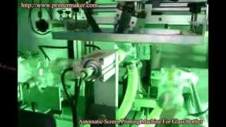[Glass Bottles Automatic UV Screen Printing Machine with Robo...] Video