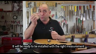 Watch the Trade Secrets Video, Nut and Saddle Sander demo by Roberto Fontanot