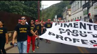 Professores protestam em Ouro Preto - 21/04/2015