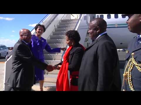 President Jacob Zuma arrives in New York
