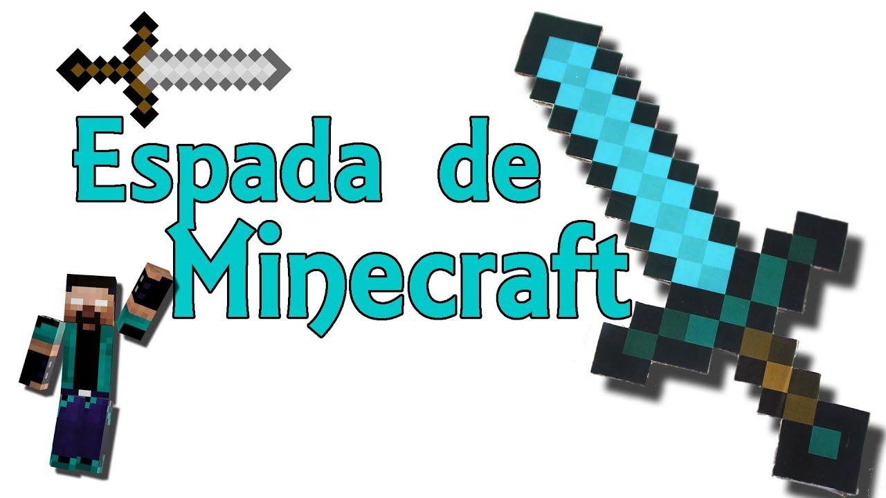 Espada de minecraft real de diamante minecraft en la for Videos de minecraft en la vida real