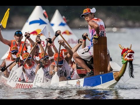Dragon Boat racing in Hong Kong - Red Bull Dragon Roar 2014