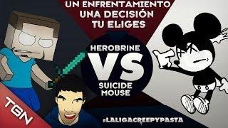 """HEROBRINE VS SUICIDE MOUSE - #LaLigaCreepypasta """"Octavos de Final"""""""