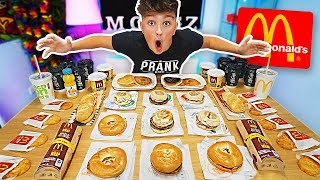 ENTIRE MCDONALDS BREAKFAST MENU CHALLENGE!! *250,000 CALORIES* (Breaking McDonalds World Records)