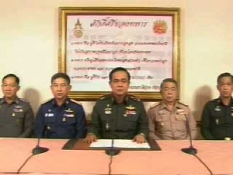 Thailand Military declares a coup