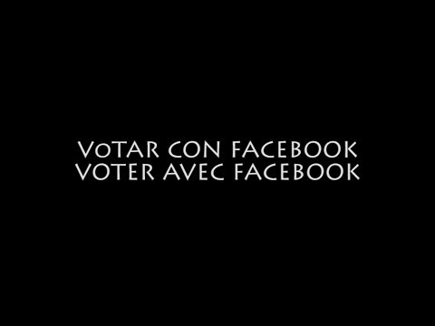 Votar con facebook | Voter avec Facebook