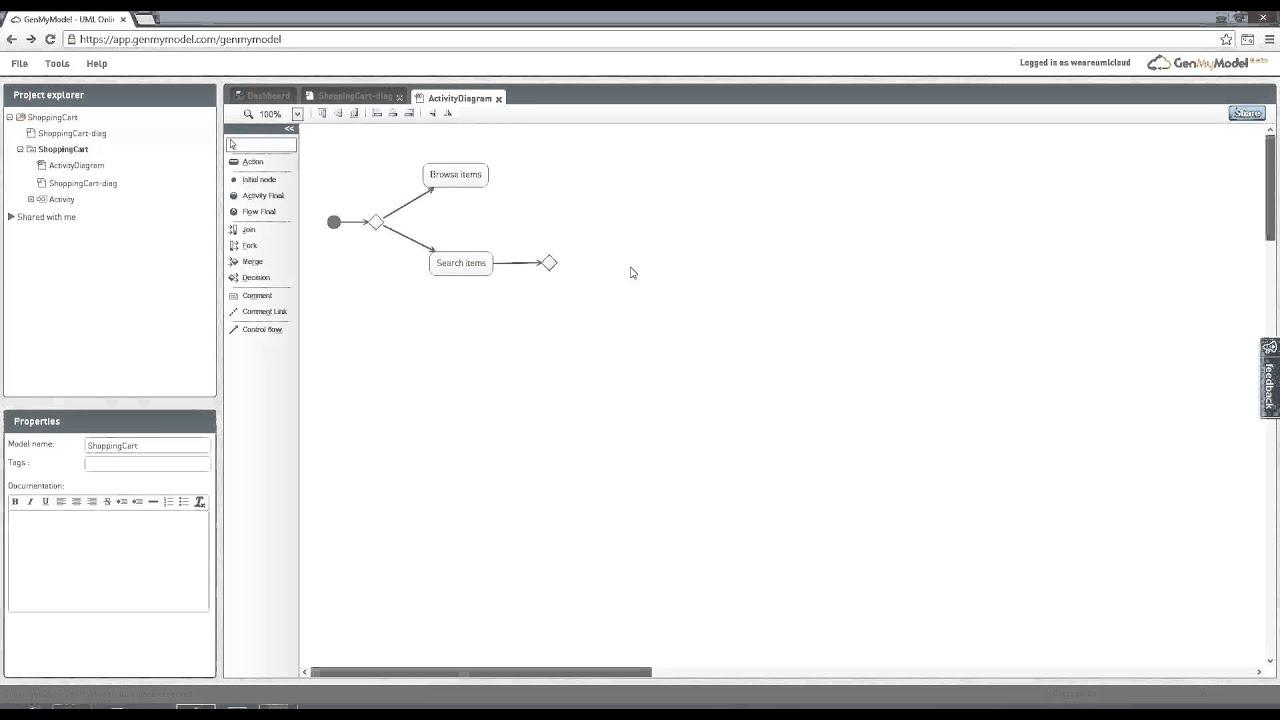 Activity Diagram Online - Uml Diagrams - Genmymodel