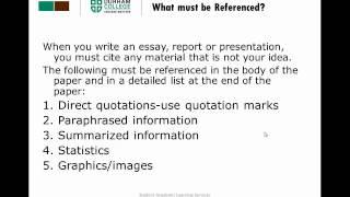 Avoiding Plagiarism - SALS - Durham College