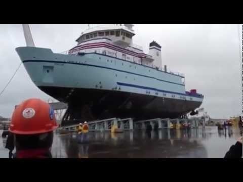 How a Ship Gets Into The Water
