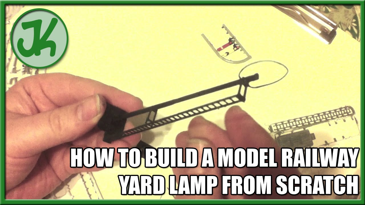 How to scratch build model railway yard lamps from scrap for How to make a lampshade from scratch
