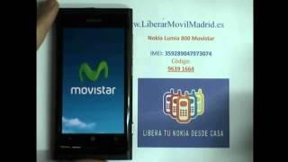 Liberar Por Código IMEI Nokia Lumia 800 Movistar