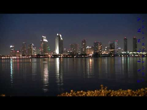 San Diego Downtown Skyline Sunset Timelapse (HD)
