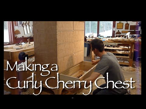Curly Cherry Chest of Drawers building process by Doucette and Wolfe Furniture Makers