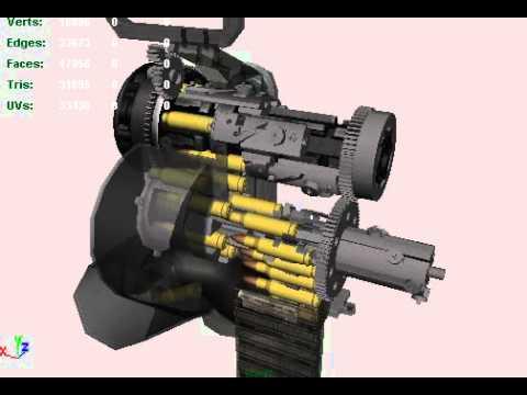 Minigun. Work-in-progress video.
