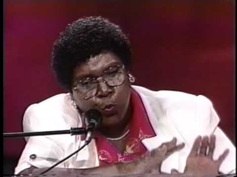 Barbara Jordan speaks at the 1992 Democratic Convention