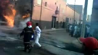 حريق مهول بمحل لبيع الكازوال المهرب بكلميم | حالة خاصة