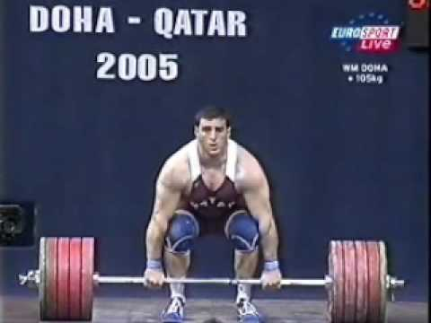 Frank Rothwell's Olympic Weightlifting History 2005 WWC SALEM Jaber Saaed 105 Kg
