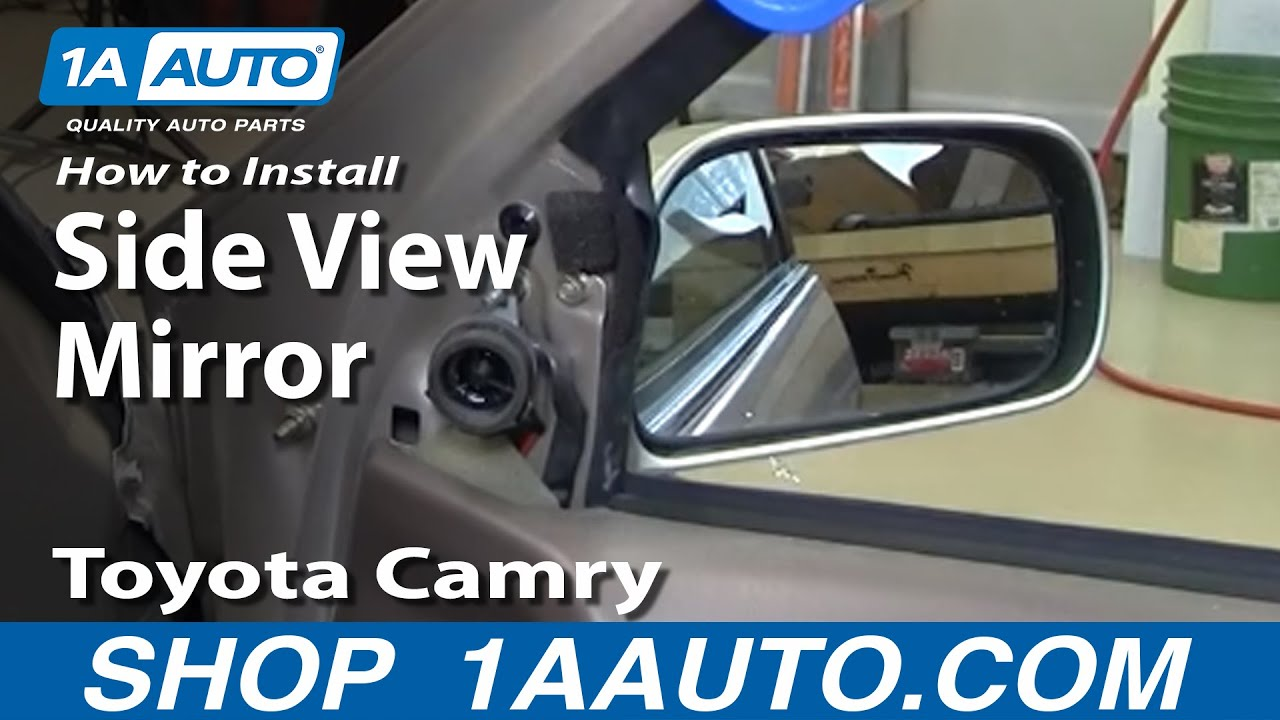 How To Install Replace Broken Side Rear View Mirror Toyota