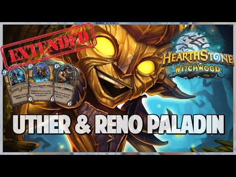 Uther & Reno Paladin | Extended Gameplay Hearthstone | The Witchwood