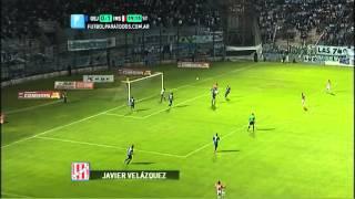 Gol de Velázquez. Gimnasia (J) 0 - Instituto 2. Fecha 8. Torneo Primera B Nacional. FPT
