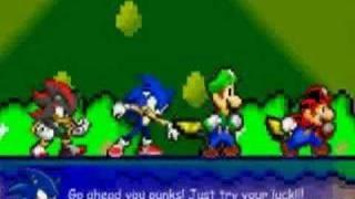 Mario,Sonic,Luigi,Shadow VS The Koopa Brothers