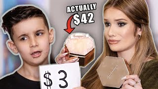 LITTLE BROTHER GUESSES MAKEUP PRICES! ... so cute lol
