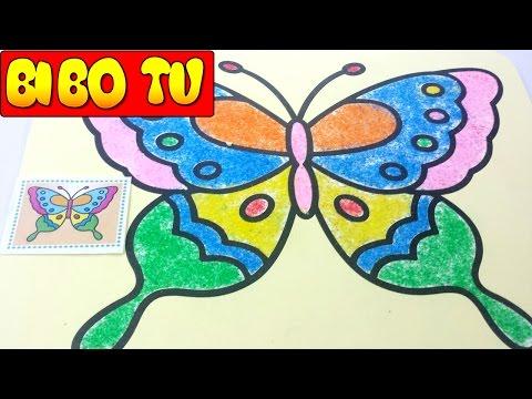 Colored Butterfly Sand Painting For Children - Bé Tô Tranh Cát CON BƯỚM XINH !