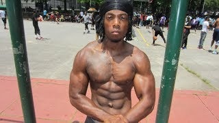 Sincere Semion does 50 pull-ups and 100 push-ups in under 5 minutes