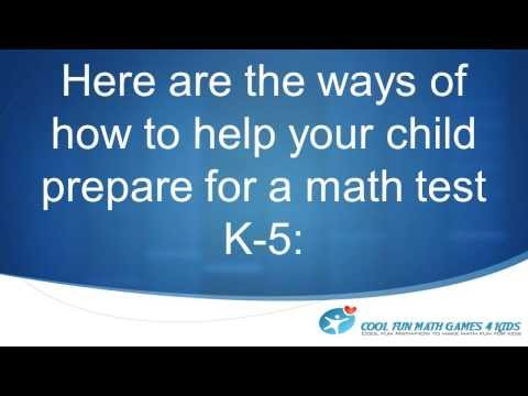 Cool Fun Math Games-How to Help Your Child Prepare for a Math Test K-5