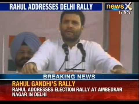Rahul Gandhi addresses election rally at Ambedkar Nagar in Delhi - News X