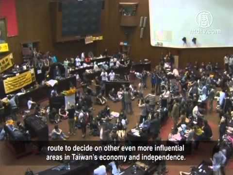 Taiwan Protestors Occupy Legislative Yuan Over Service Trade Agreement With China