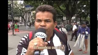 Atleticanos comemoram o t�tulo da Copa do Brasil no Centro de BH