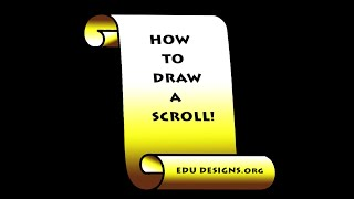 how to draw a scroll