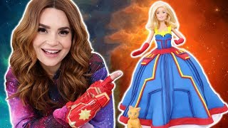 CAPTAIN MARVEL PRINCESS CAKE - NERDY NUMMIES
