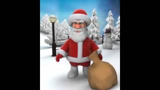 felicitacion de navidad graciosa papa noel