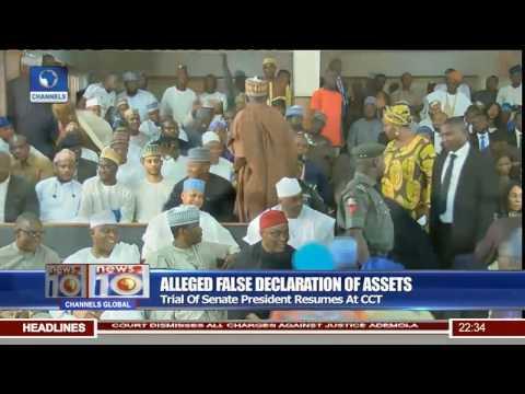 Trial Of Senate President Bukola Saraki Resumes At CCT