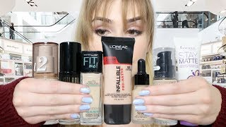 "Trying 7 of ""The Best"" DRUGSTORE FOUNDATIONS For A WEEK! 